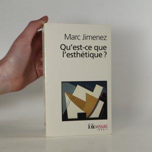 náhled knihy - Qu'est-ce que l'esthétique?