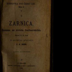 antikvární kniha Zarnica. Román ze života bulharského, 1883