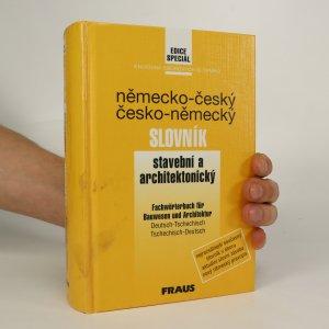 náhled knihy - Německo-český a česko-německý stavební a architektonický slovník
