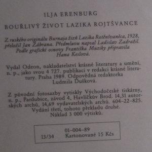 antikvární kniha Bouřlivý život Lazika Rotschwanze, 1989