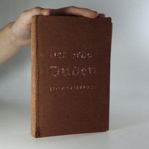 náhled knihy - Der Große Duden. Stilwörterbuch der deutschen Sprache
