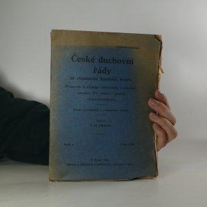 náhled knihy - České duchovní řády za rozmachu husitské bouře (sešit 6, viz poznámka)