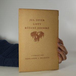 náhled knihy - Listy Julia Zeyera Růženě Jesenské