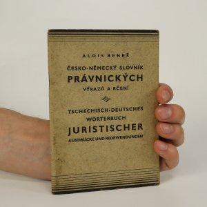 náhled knihy - Česko-německý slovník právnických výrazů a rčení