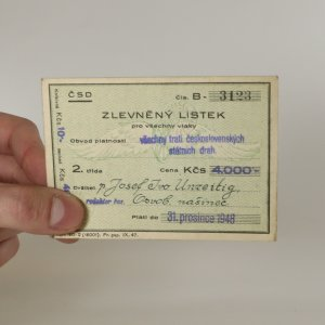 náhled knihy - Zlevněný lístek pro všechny vlaky 1948