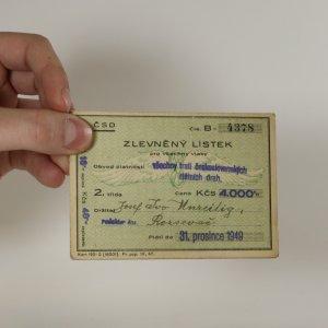 náhled knihy - Zlevněný lístek pro všechny vlaky 1949