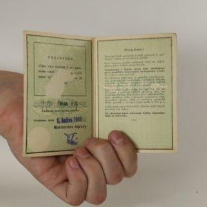 antikvární kniha Zlevněný lístek pro všechny vlaky 1949, neuveden