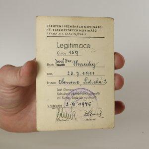náhled knihy - Legitimace Sdružení vězněných novinářů 1946
