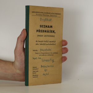 náhled knihy - Seznam přednášek Universita Palackého v Olomouci