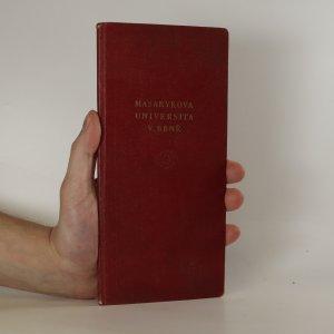 náhled knihy - Seznam přednášek Právnické fakulty Masarykovy univerzity