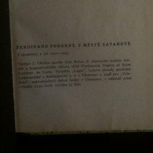 antikvární kniha V městě Satanově , 1948