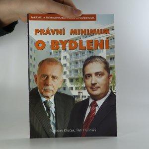 náhled knihy - Právní minimum o bydlení