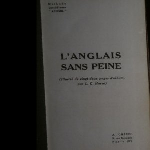 antikvární kniha L'Anglais sans peine, neuveden