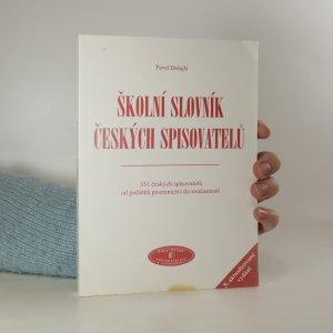 náhled knihy - Školní slovník českých spisovatelů