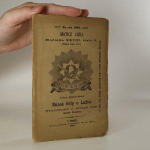 náhled knihy - Různé listy o Lužici. Feuilletony a drobné črty Adolfa Černého. Matice lidu. Ročník XXVIII. Číslo 3. (Běžné číslo 165)