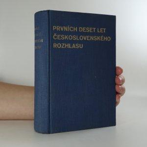 náhled knihy - Prvních deset let československého rozhlasu