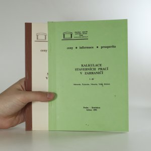 náhled knihy - Kalkulace stavebních prací v zahraničí a ČSFR
