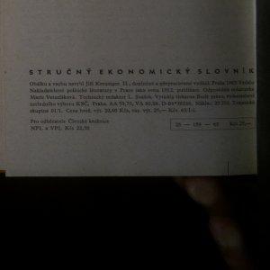 antikvární kniha Stručný ekonomický slovník, 1963