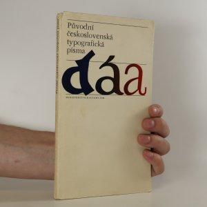 náhled knihy - Původní československá typografická písma
