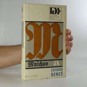 náhled knihy - Mnichov a Edvard Beneš