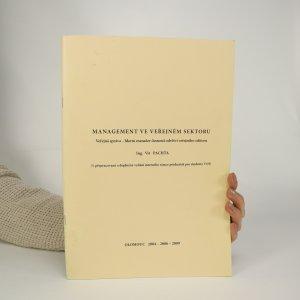 náhled knihy - Managment ve veřejném sektoru