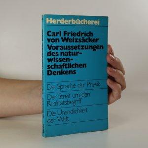 náhled knihy - Voraussetzungen des naturwissenschaftlichen Denkens