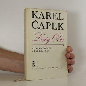 náhled knihy - Listy Olze 1920-1938