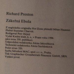 antikvární kniha Zákeřná Ebola, 1996