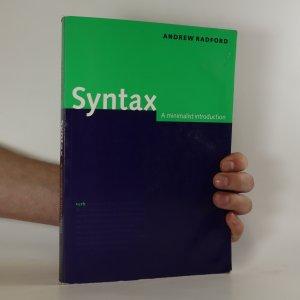 náhled knihy - Syntax. A minimalist introduction