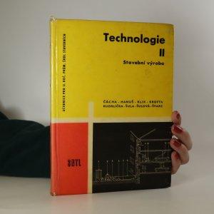náhled knihy - Technologie II. Stavební výroba