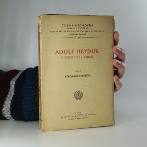 náhled knihy - Adolf Heyduk a výbor z jeho poesie