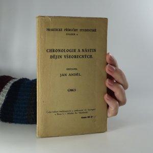 náhled knihy - Chronologie a nástin dějin všeobecných