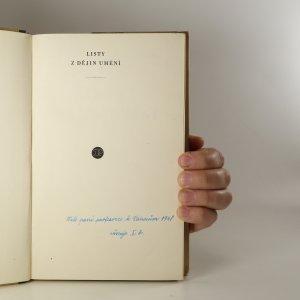 antikvární kniha Listy z dějin umění, 1947