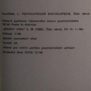 antikvární kniha Zprávy 1980, číslo 28. Psychiatrická encyklopedie, díl III., 1980