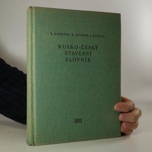 náhled knihy - Rusko-český stavební slovník
