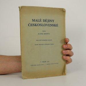 náhled knihy - Malé dějiny československé (viz foto a stav)
