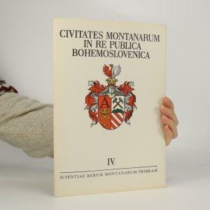náhled knihy - Civitates montanarum in re publica bohemoslovenica IV (autogram)