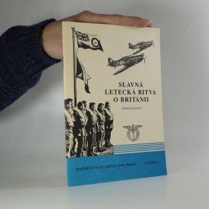 náhled knihy - Slavná letecká bitva o Británii. Stručná historie