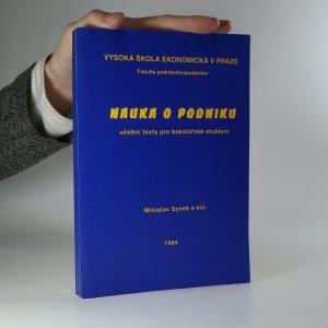 náhled knihy - Nauka o podniku. Učební texty pro bakalářské studium
