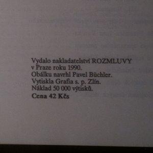antikvární kniha O smyslu českých dějin, 1990