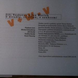 antikvární kniha Jiří Voskovec a Jan Werich v divadle, ve filmu, v soukromí, 2001