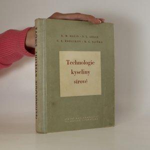 náhled knihy - Technologie kyseliny sírové