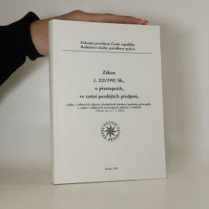 náhled knihy - Zákon č. 200/1990 Sb., o přestupcích ve znění pozdějších předpisů. Právní stav k 1. 1. 2003