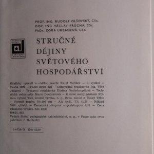 antikvární kniha Stručné dějiny světového hospodářství, 1978