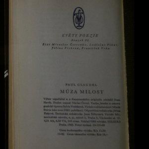 antikvární kniha Múza Milost. Výbor z básní Paula Claudela ke 100. výročí jeho narození, 1969