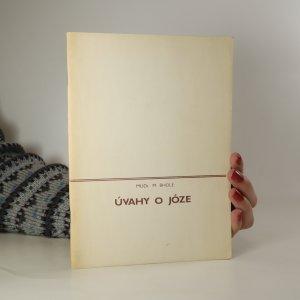náhled knihy - Úvahy o józe (zpracování záznamů přednášek M. Bholea z roku 1980)