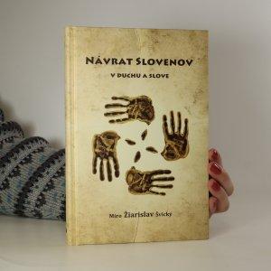 náhled knihy - Návrat Slovenov v duchu a slove (asi podpis autora)