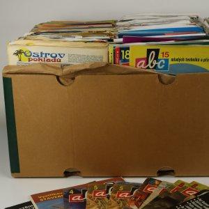 náhled knihy - Bedna časopisů ABC (zajíc v pytli, nekontrolováno, často nekompletní vystřihovánky a pod.)
