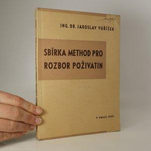 náhled knihy - Sbírka method pro rozbor poživatin