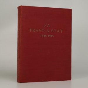 náhled knihy - Za právo a stát 1848-1918